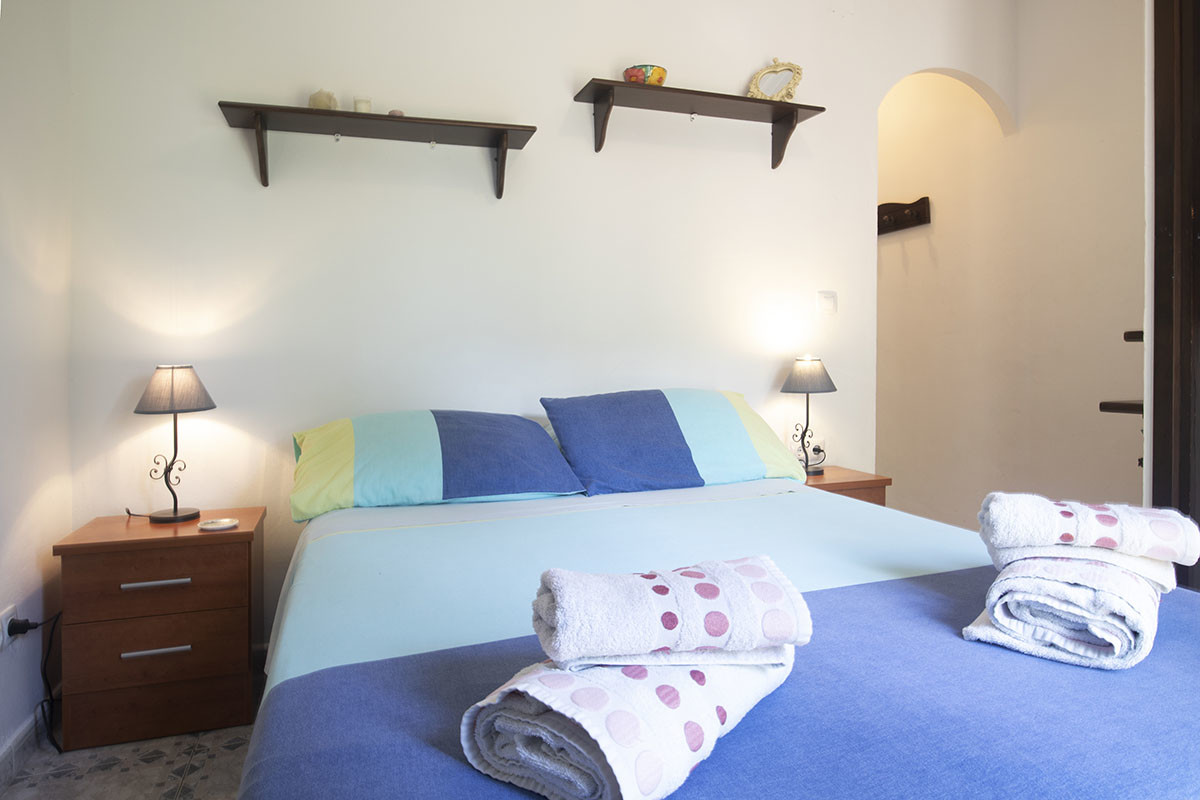 Blueberry bedroom at Villa Andalcuia