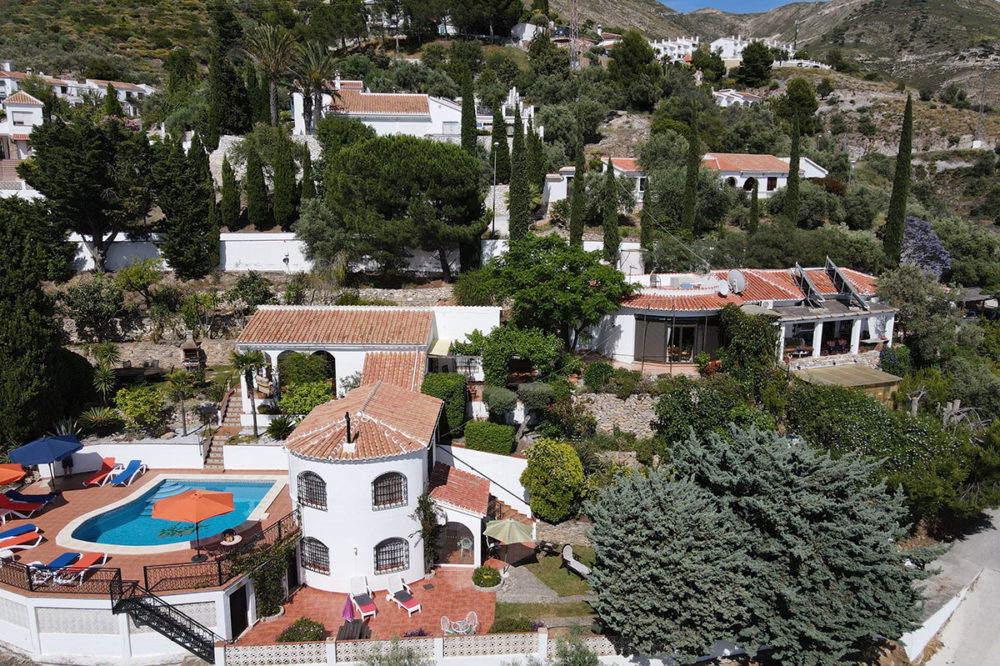 Aerial View of Villa Andalucia Competa