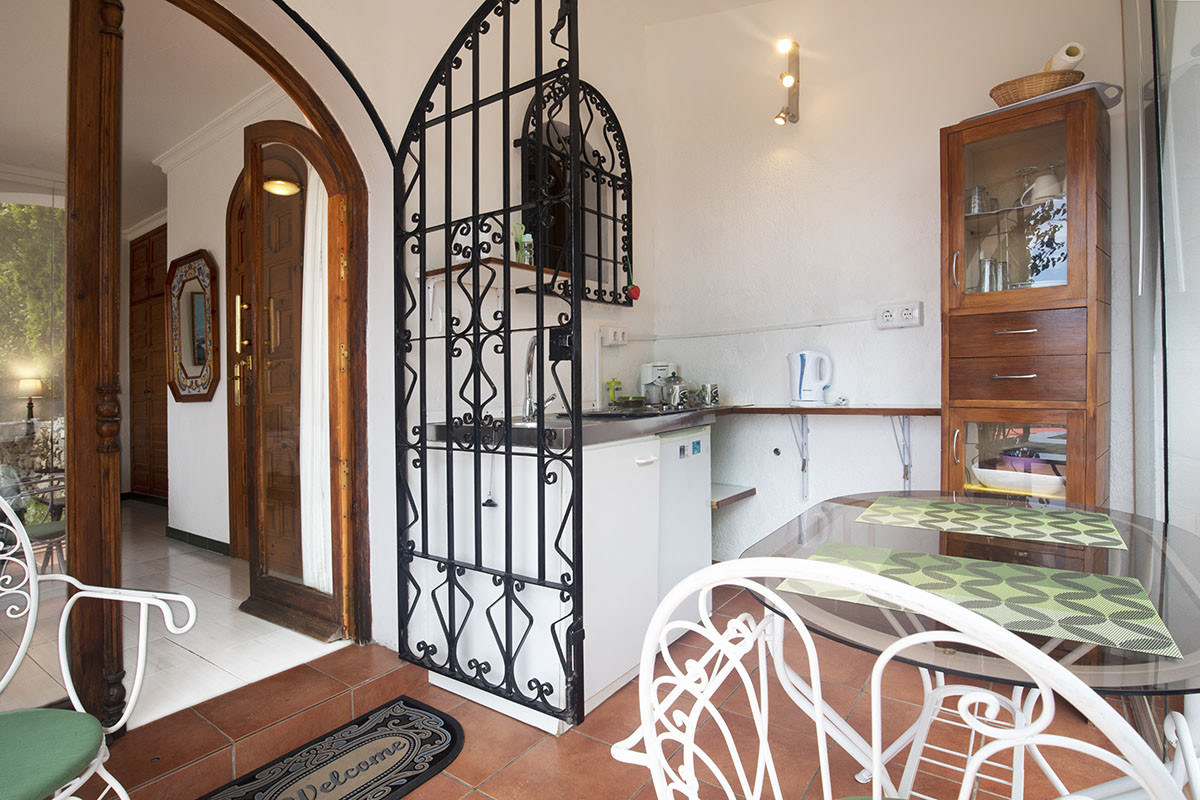 Kitchenette to the Avocado Room at Villa Andalucia