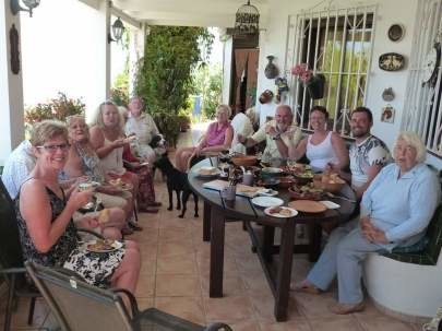 Friday lunchtime with guests at Villa Andalucia