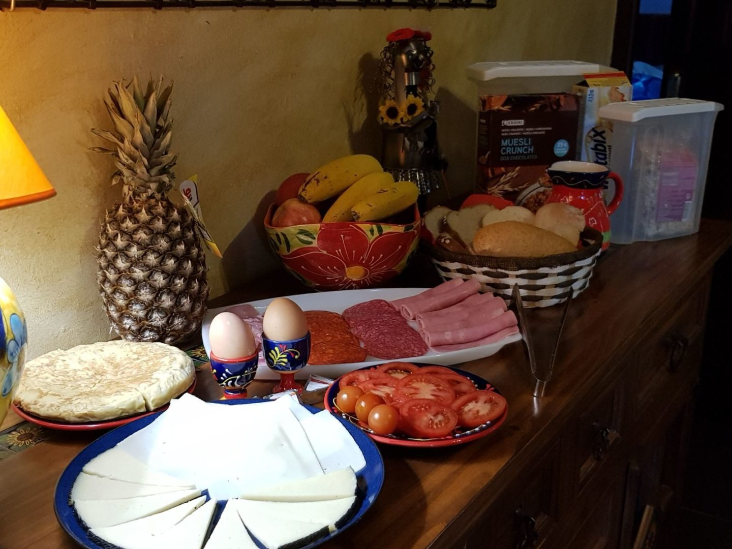 Continental Breakfast at Villa Andalucia