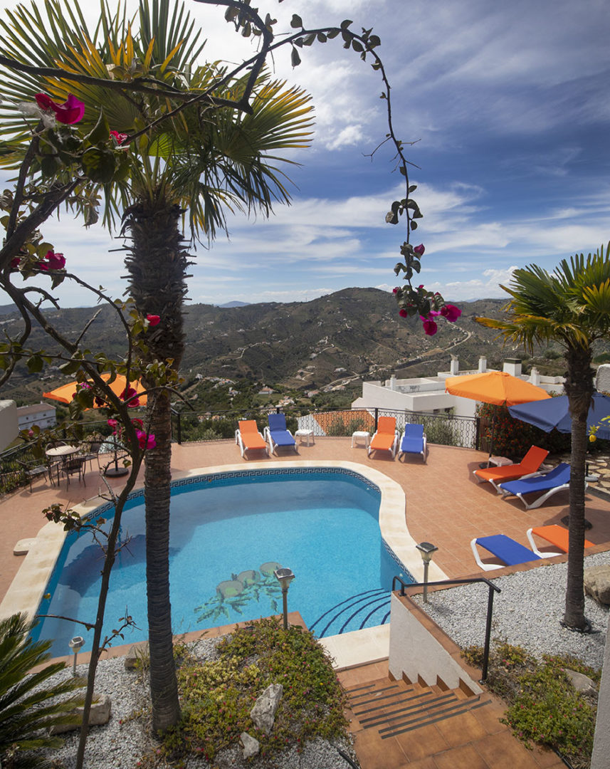 Early afternoon by the pool at Villa Andalucia Competa