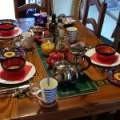 Breakfast table at Villa Andalucia