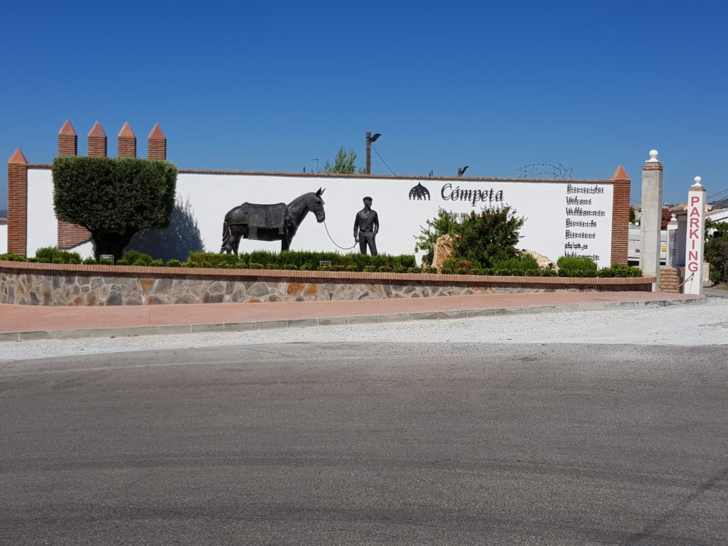 Entrance to the village of Competa