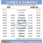 Timetable for buses to Competa during Covid 19