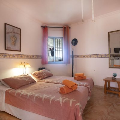 Orange Room bedroom at Villa Andalucia