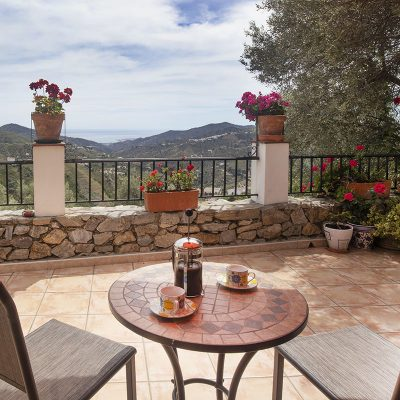 Patio outside the Orange Room at Villa Andalucia